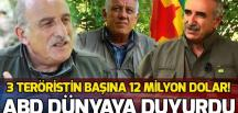 ABD'den PKK'lı teröristlerin başına ödül