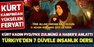 Suriye'deki Kürt kampından yükselen ses! PKK zulmünü gözyaşları içinde anlattı