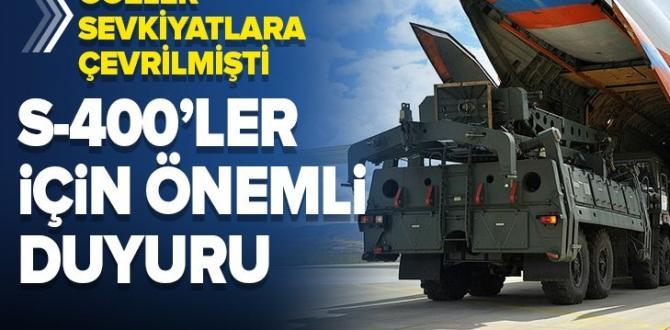 Son dakika: Milli Savunma Bakanlığı'ndan S-400 açıklaması