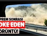 Son dakika: Denizli'de deprem sonrası heyelan anı kamerada.