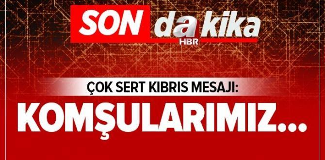 Milli Savunma Bakanı Akar'dan Kıbrıs mesajı.