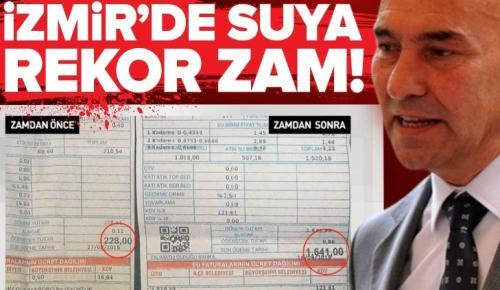CHP'li İzmir belediyesinden suya yüzde 924 zam yapıldı |Video