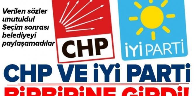 Son dakika: Manisa Akhisar'da CHP ve İyi Partililer birbirine girdi