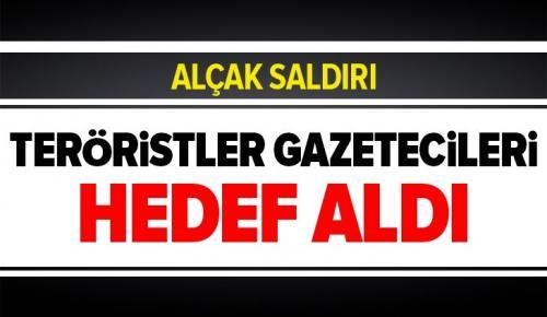 PKK/YPG Kamışlı'dan saldırdı! Teröristler gazetecileri hedef aldı .