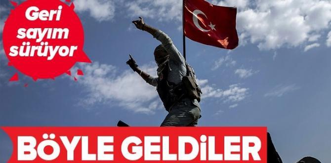 Barış Pnarı'nda geri sayım! SMO askerleri, Ceylanpınar ilçesine çıkış yaptı .