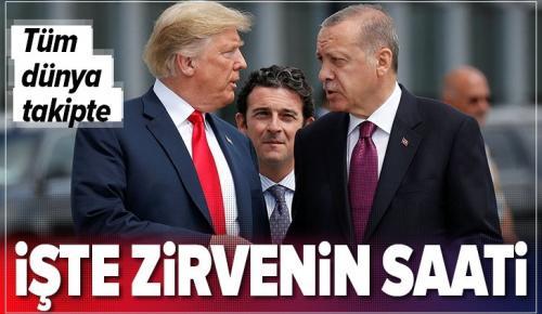Başkan Erdoğan, ABD Başkanı Trump ile yarın 20.00'de görüşecek.