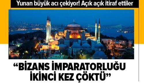 Yunanistan'da Ayasofya Camii üzüntüsü: Bizans İmparatorluğu ikinci kez çöktü.