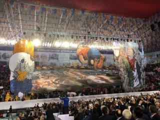 AK Parti Samsun İl Kongresi'nde anlamlı koreografi
