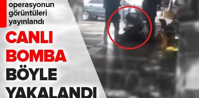 Şanlıurfa'da canlı bombanın yakalanma anı görüntüsü ortaya çıktı!  Video.