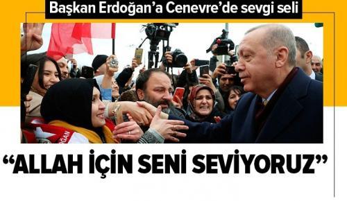 Başkan Erdoğan Cenevre'de